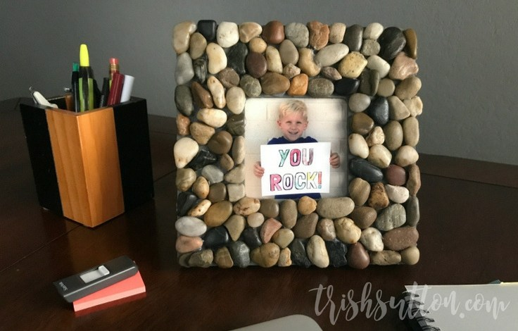 DIY Rock Frame Father's Day Gift