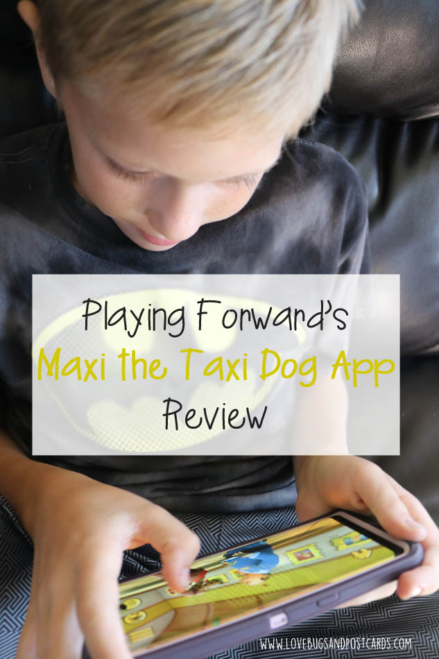 d9314be58fc3e Today I am excited to tell you all about Playing Forward s Maxi the Taxi  Dog app available for Android and iOS devices.