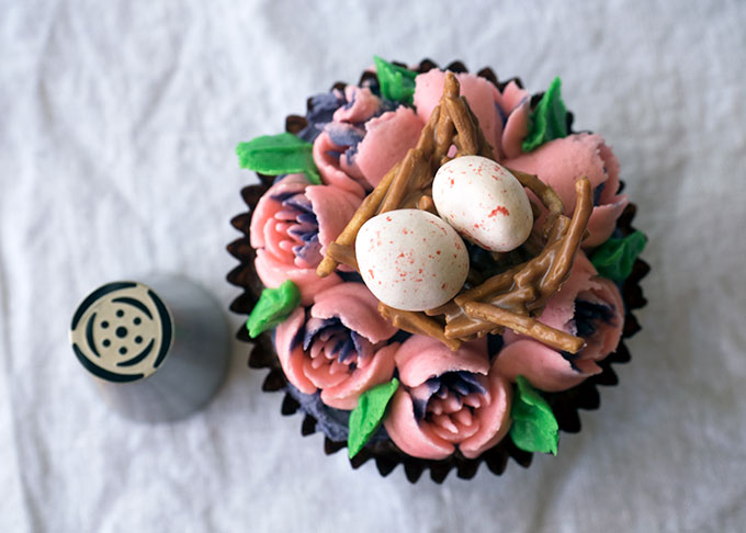 Easter Chocolate Mud Cupcakes