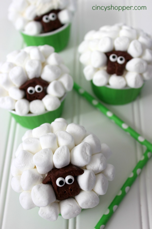 Sheep Easter Cupcakes