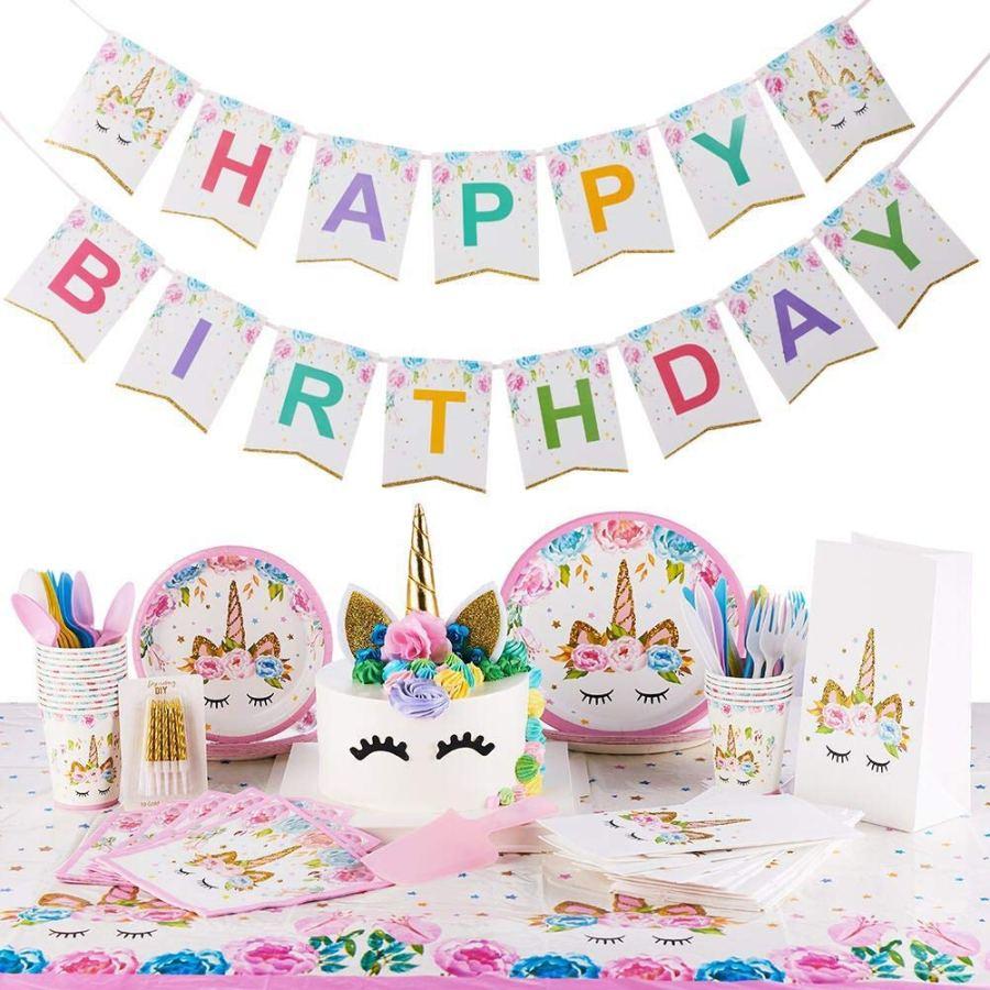 Unicorn Birthday Party Ideas - Unicorn Party Supplies Kit