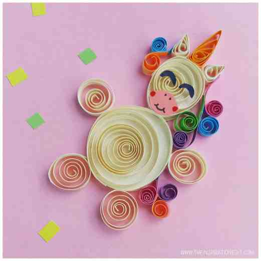 Unicorn Birthday Party Ideas - Unicorn Quilling Craft