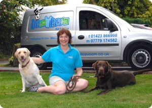 Me with my 'business partners' Gretel & Charlie