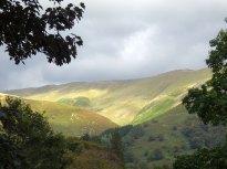hills in sun