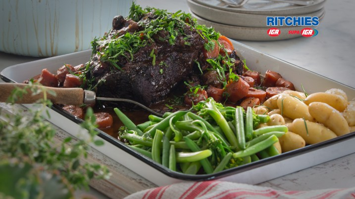 French style pot roasted beef
