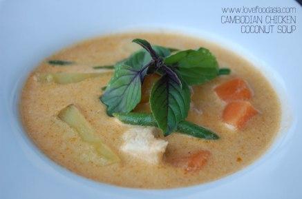 Cambodian Chicken Coconut Soup