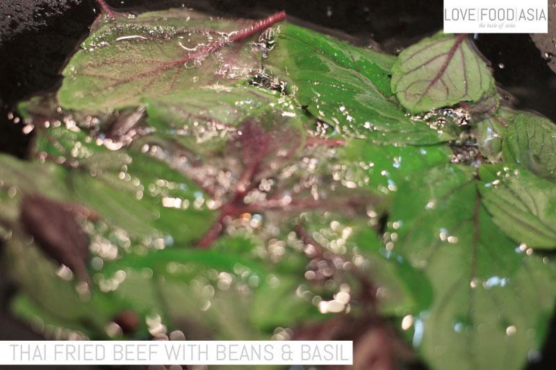 Fry basil leaves