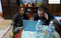 Me organizing the homestay :-)