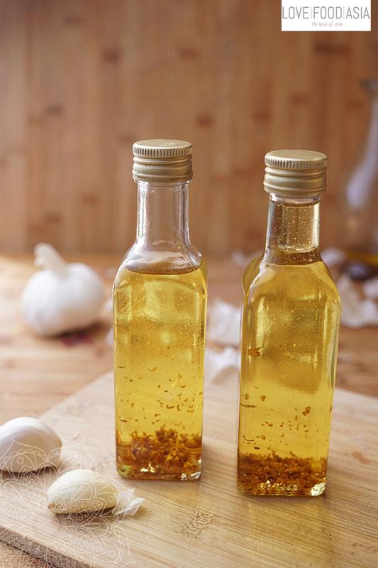 Knuspriges Knoblauchöl aus Myanmar