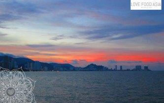 Sonnenuntergang auf Penang