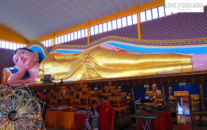 Liegender Buddha im Wat Chayamangkalaram