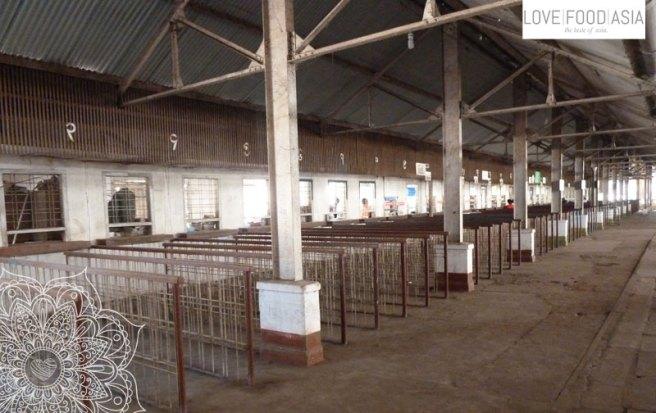 Die Ticketschalter der Bahn in Rangun