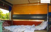 Unser Schlafabteil im Zug nach Mandalay