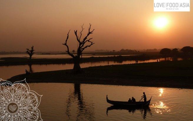 Sonnenuntergang in Amarapura