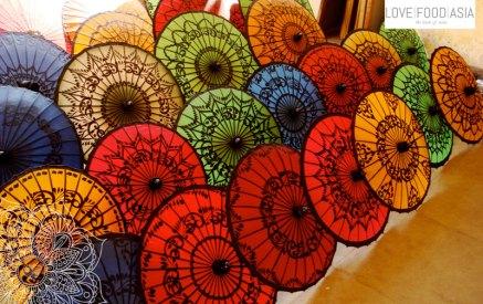 Umbrellas in Bagan