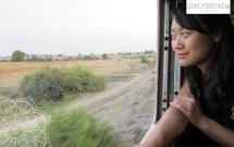 Sen im Zug nach Thazi