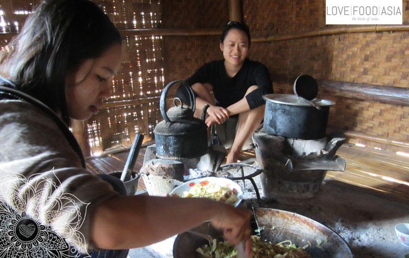Traditionelle Kochstelle