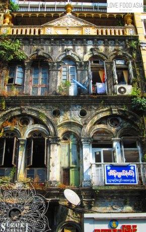 In den Straßen von Rangun