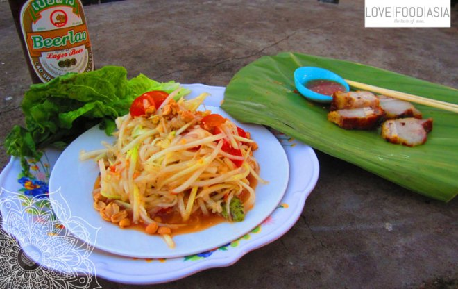 Papaya Salad in Luang Namtha