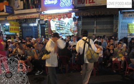 Drinking on the street in Saigon