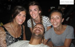 Me and three girls from Sheffield