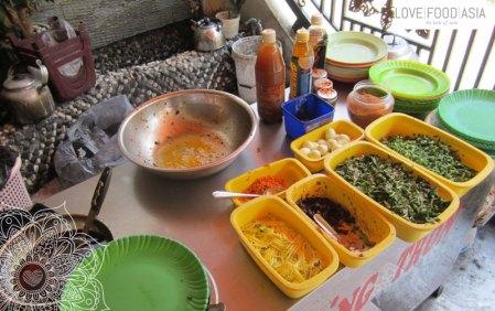 Street Food Küche in Dalat