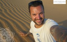 Me at the Red sand dunes of Mui Ne