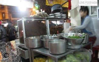 Restaurant making Mien Xao in Hanoi