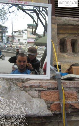 Beim Friseur in Hanoi