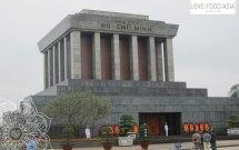 Das Mausoleum von Ho Chi Minh