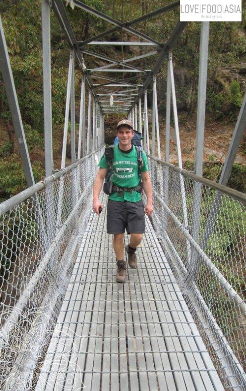 Matthias on the bridge