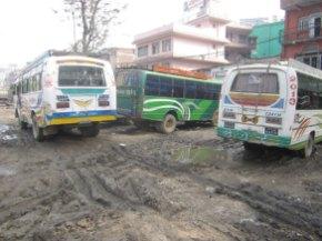 Busse in Kathmandu