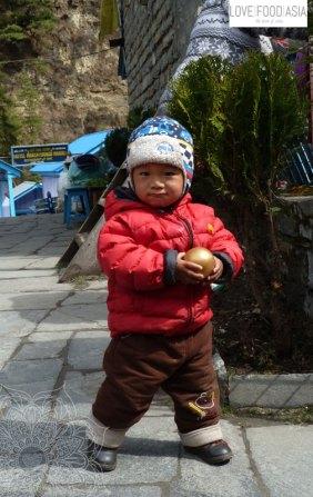 Little boy in Chame