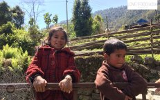 Two happy children near Chomrong
