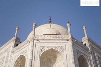 Detailansicht am Taj Mahal