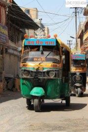 Typische Rickscha in Indien