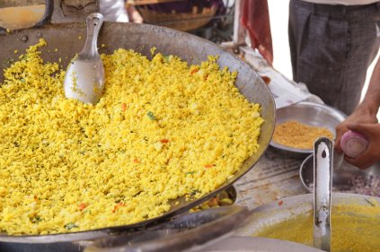 The base for Poha: Puffed rice