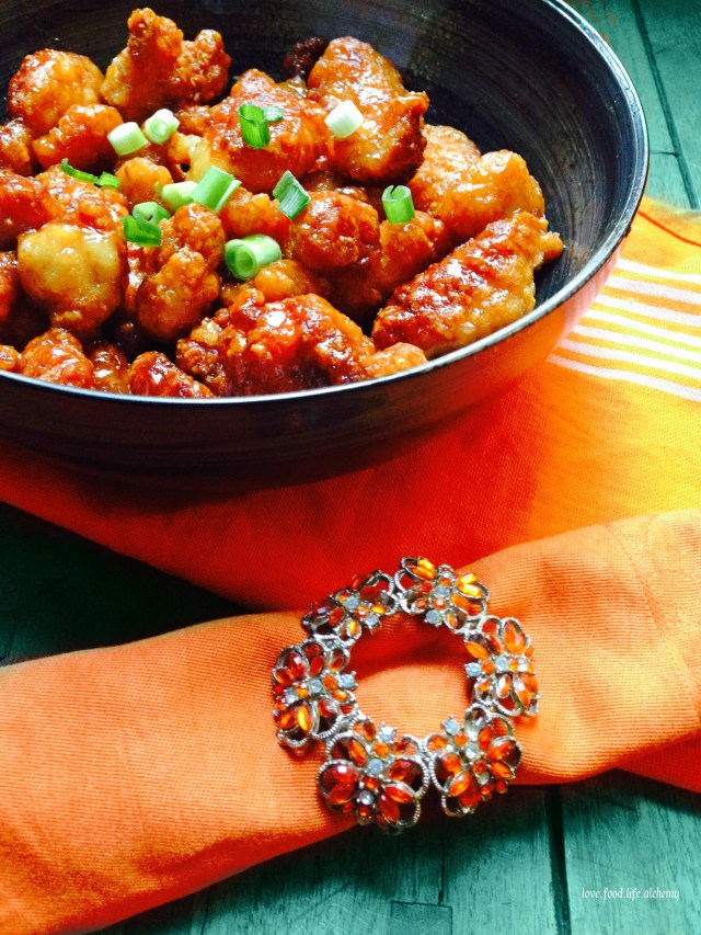 orange chicken for halloween party