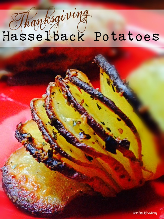 Thanksgiving Hasselback Potatoe