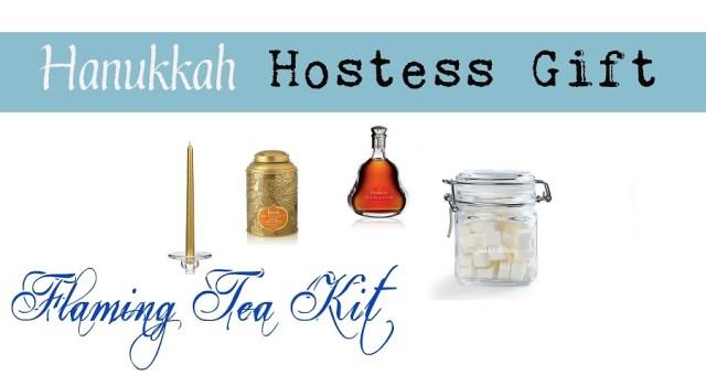 hanukkah flaming tea set