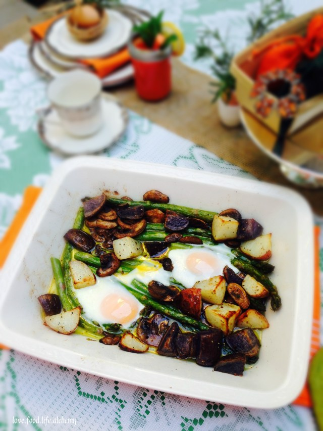 easter asparagus and potato hash