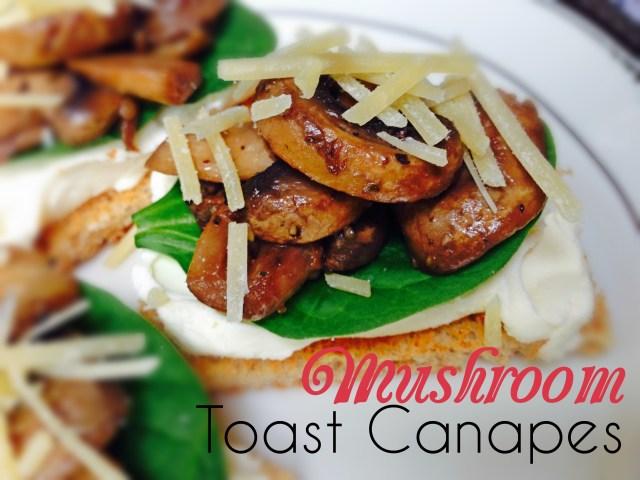 Mushroom toast canapes2