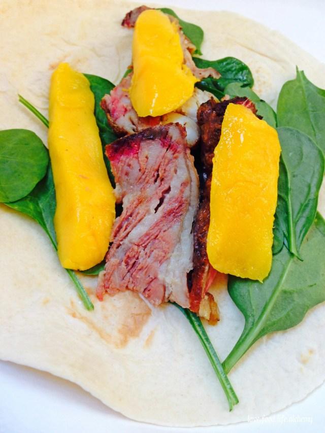 beef mango wrap