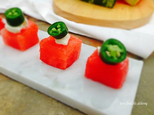 watermelon and serrano chilli