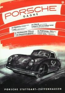 Porsche gagne Poster