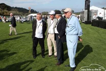 Hans Herrmann, Rolf Sprenger, Wolfgang Porsche, Eberhard Mahle