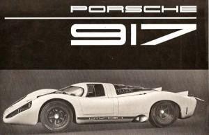 Porsche 917 brochure