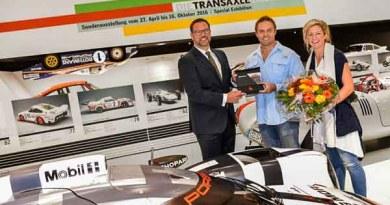 Porsche Museum Head Achim Stejskal welcomes 3rd million visitor
