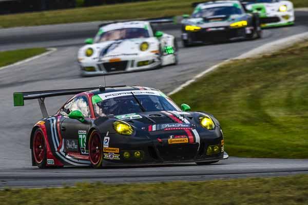 Porsche 911 GT3 R, Park Place Motorsports: Jörg Bergmeister, Patrick Lindsey