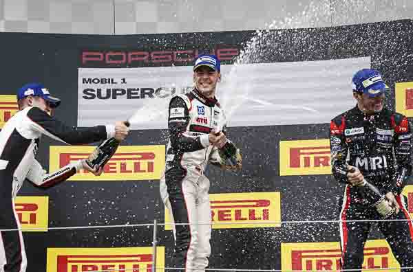Porsche Junior Sven Müller wins turbulent race